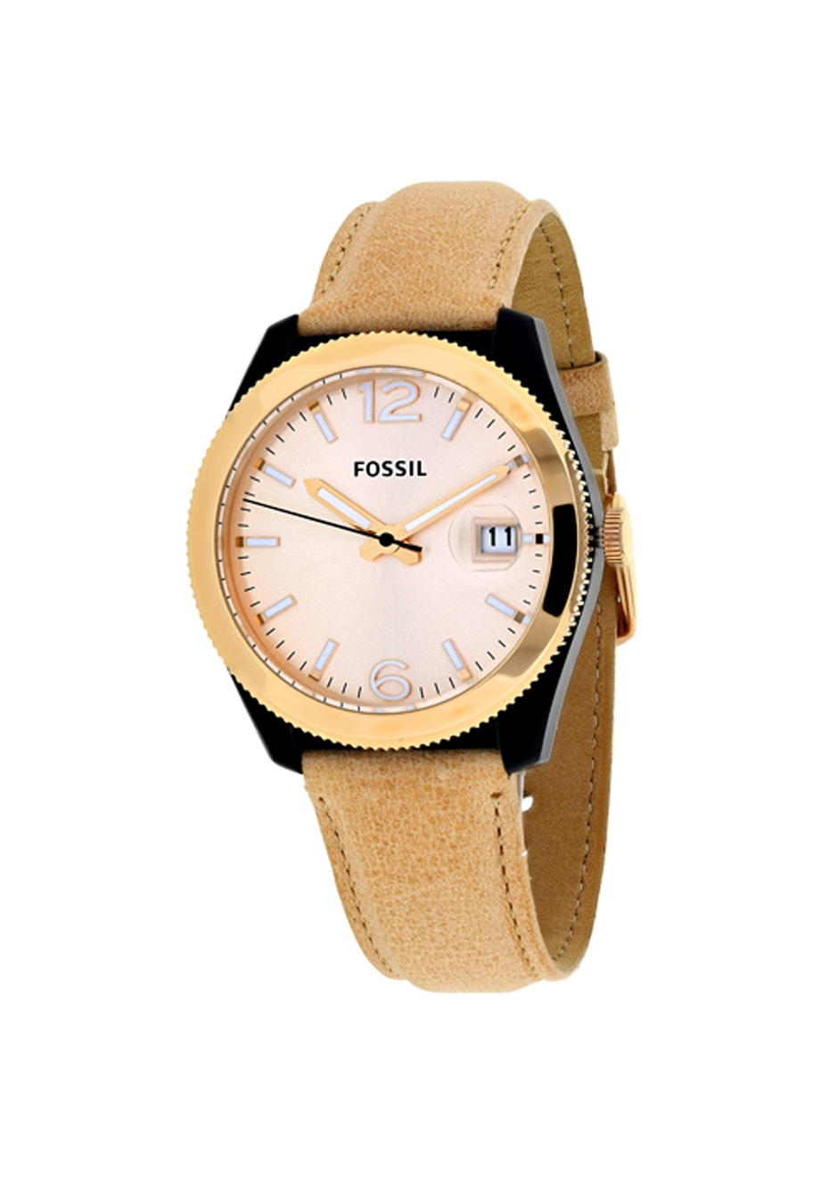 Fossil Women's Perfect Boyfriend - Rose gold/Brown