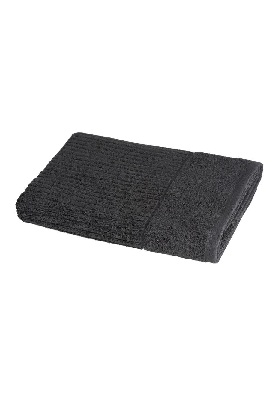 Conran Signature Rib Bath Towel Coal