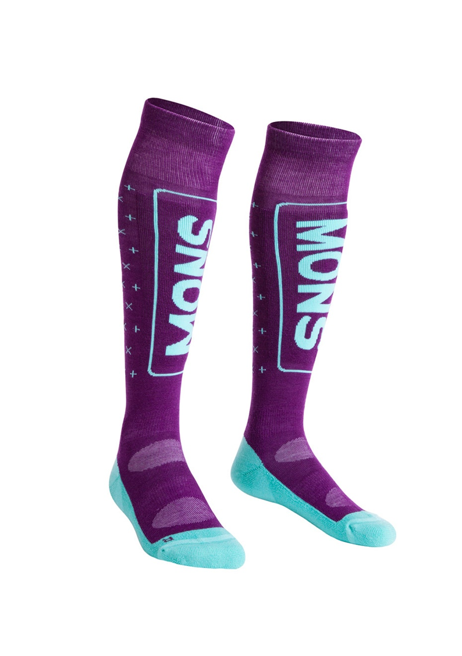 MONS ROYALE - Womens - 3 Pack Mons Snow Tech Sock - Pinot / Mint