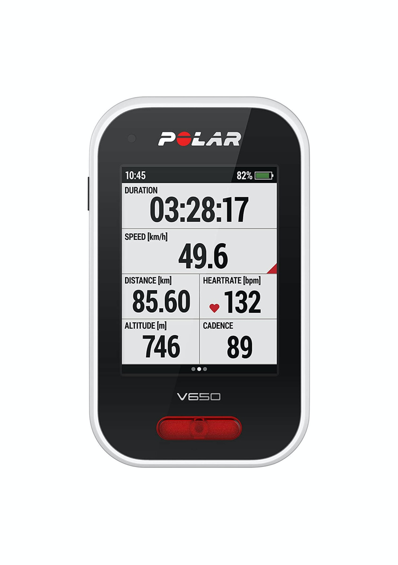 Polar V650 GPS Bike Computer - Black