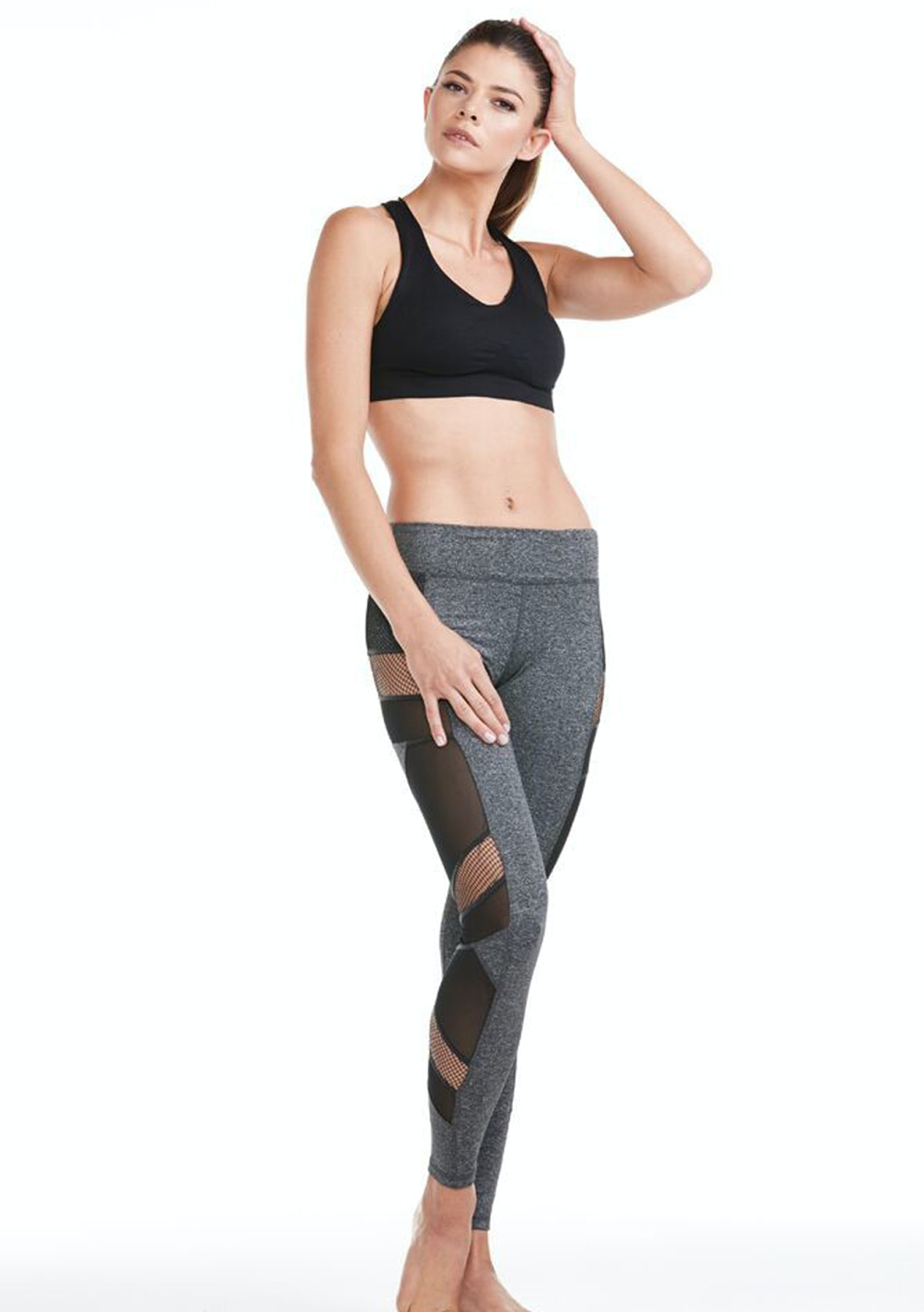 260ee3bd4a16b8 Electric Yoga - Sexy Mesh Panel Legging - Charcoal - Electric Yoga & More -  Onceit