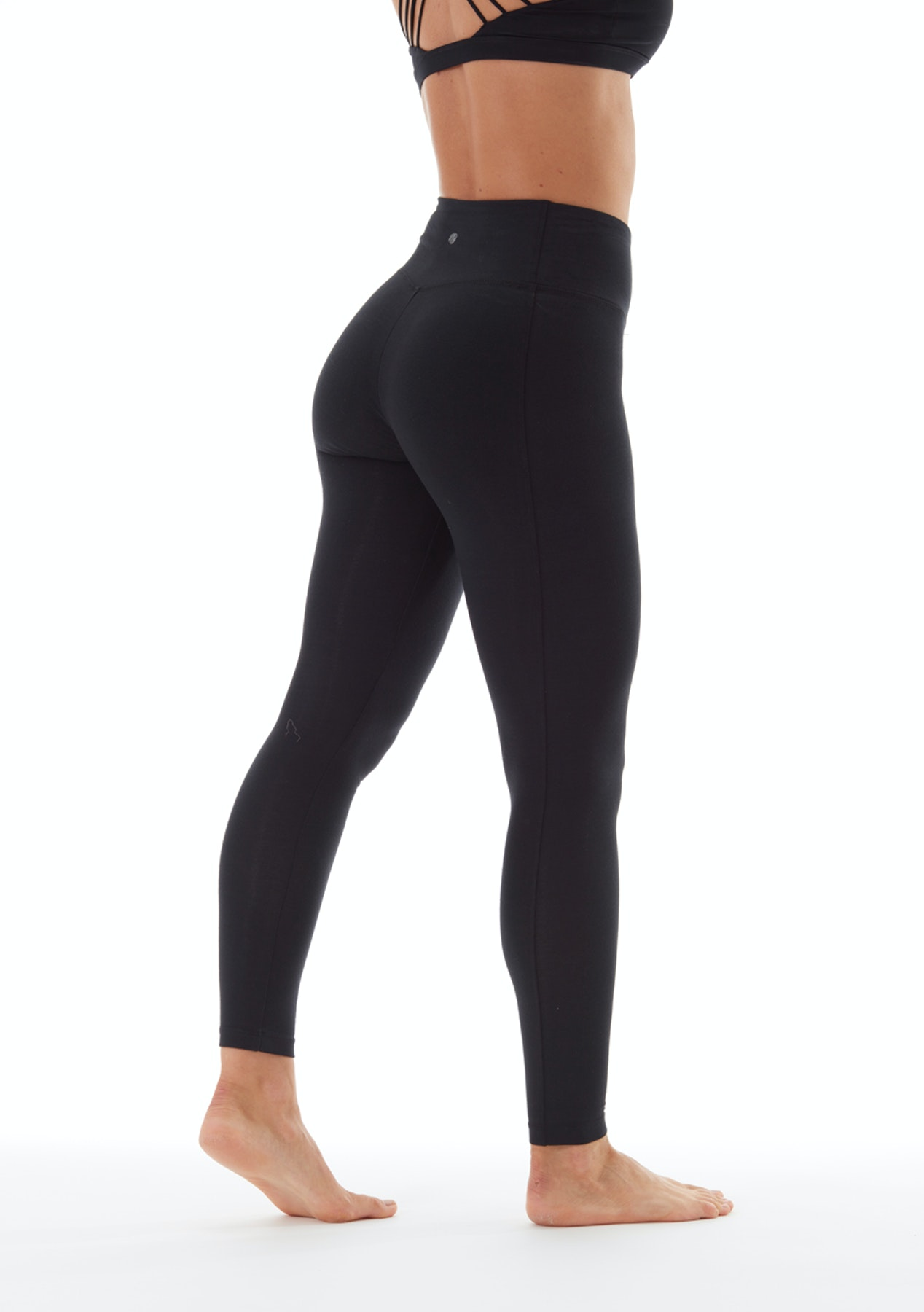 c56fc0e10bd73 Bally Total Fitness - High Rise Tummy Control Legging - Black - Bally Total  Fitness - Onceit