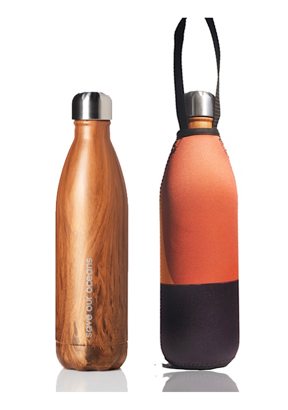 BBBYO - Future Bottle+ Carry Cover (Horizon Print) -750 ml  Woodgrain