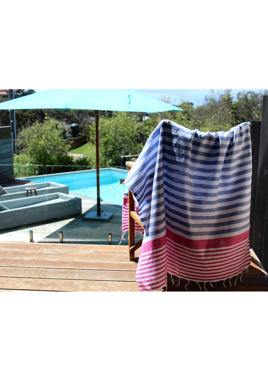 Galia Denim Fuschia Turkish Towel
