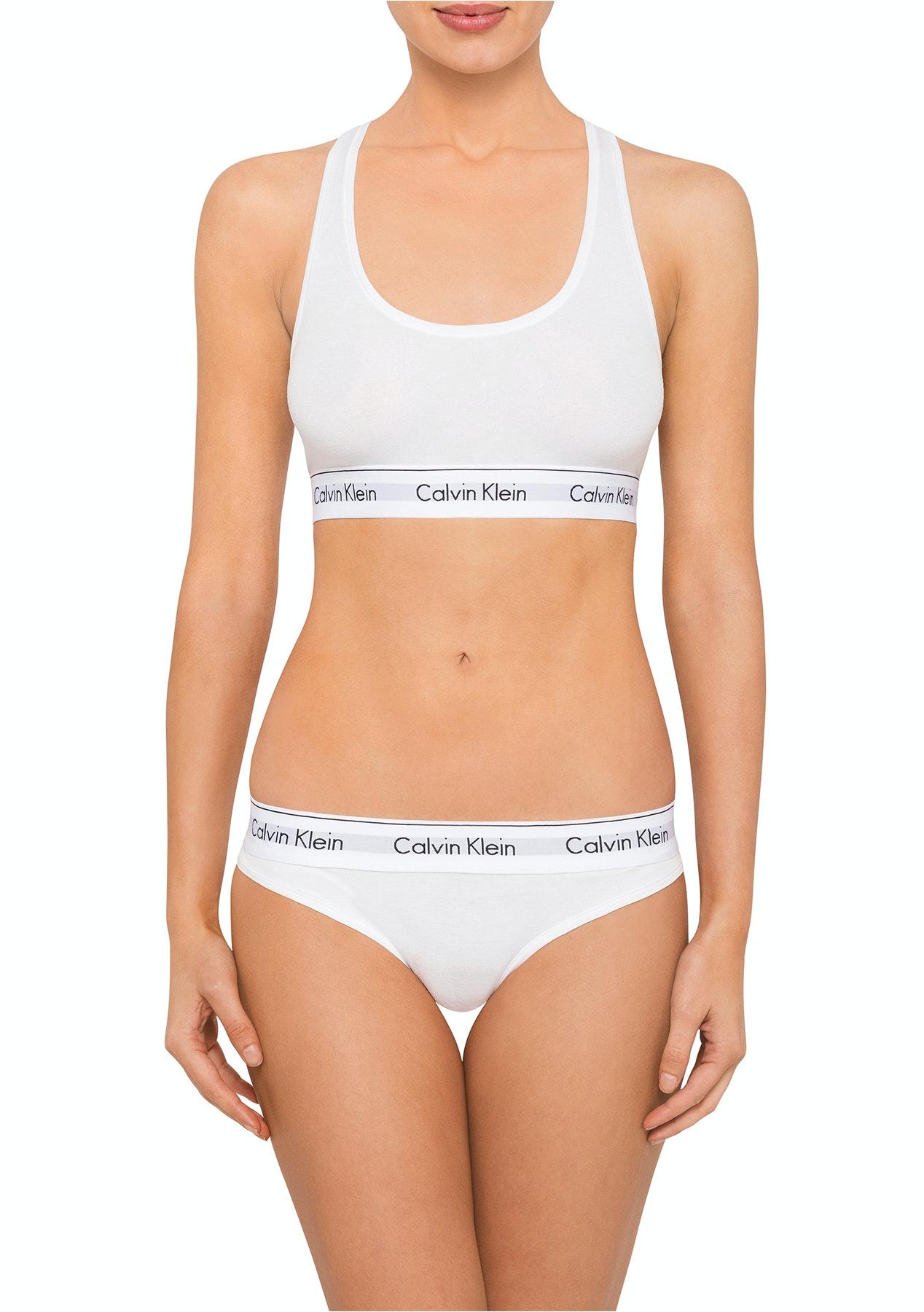 1df7505460 Calvin Klein - Modern Cotton Bralette   Bikini Set - White - Underwear  Outlet From  10 - Onceit