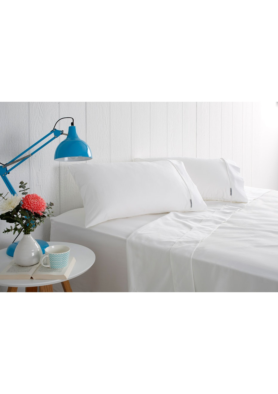 Odyssey Living 1000 Thread Count – Cotton Rich Sheet Sets - White - Double Bed