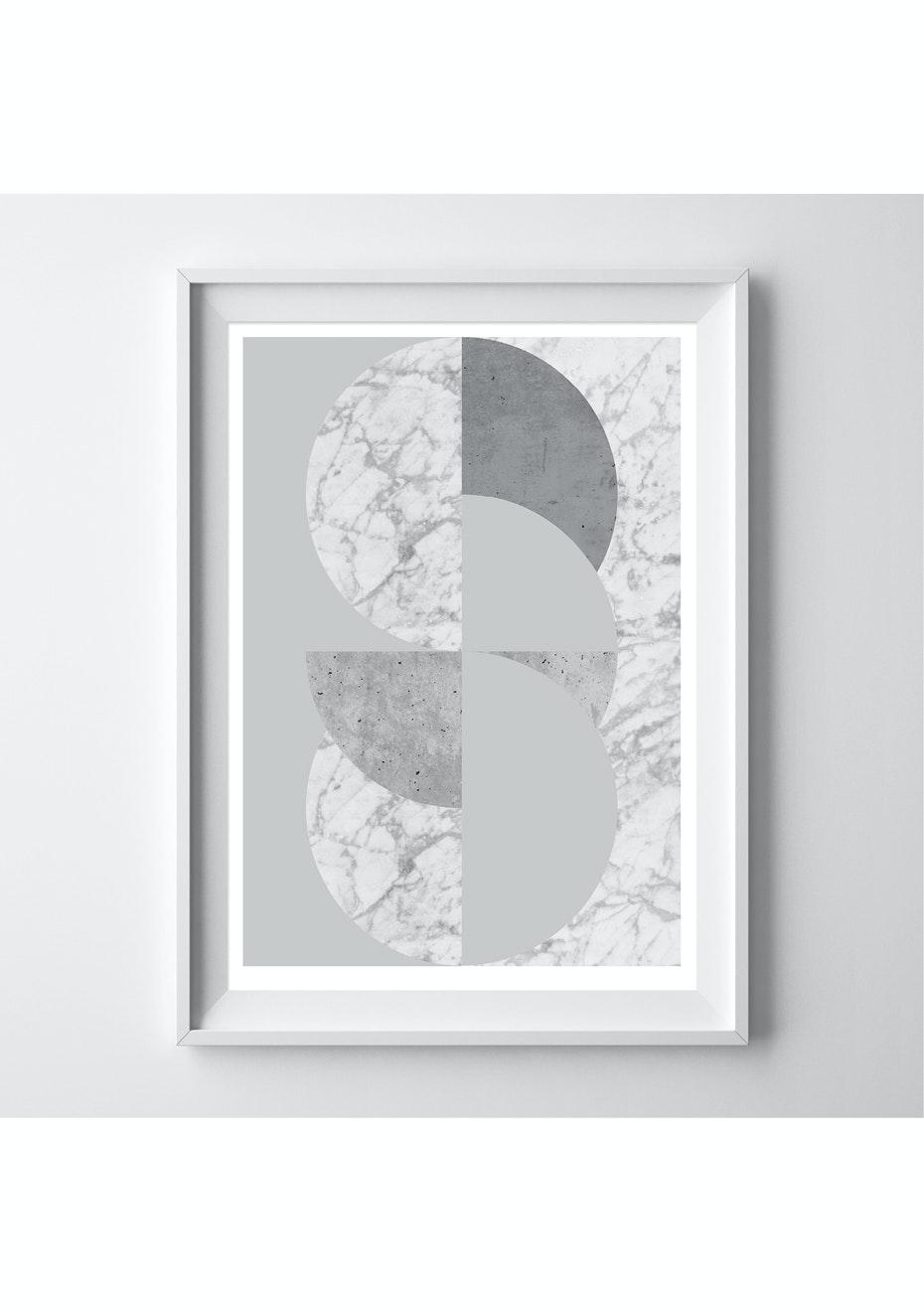 Simply Creative - Zinc - A3 Silver Foil Print