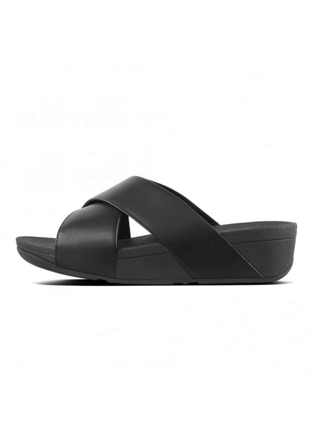 8259a6eb1 Fit Flop - Lulu Cross Slide Sandal -Black - Shoes Garage Sale - Onceit