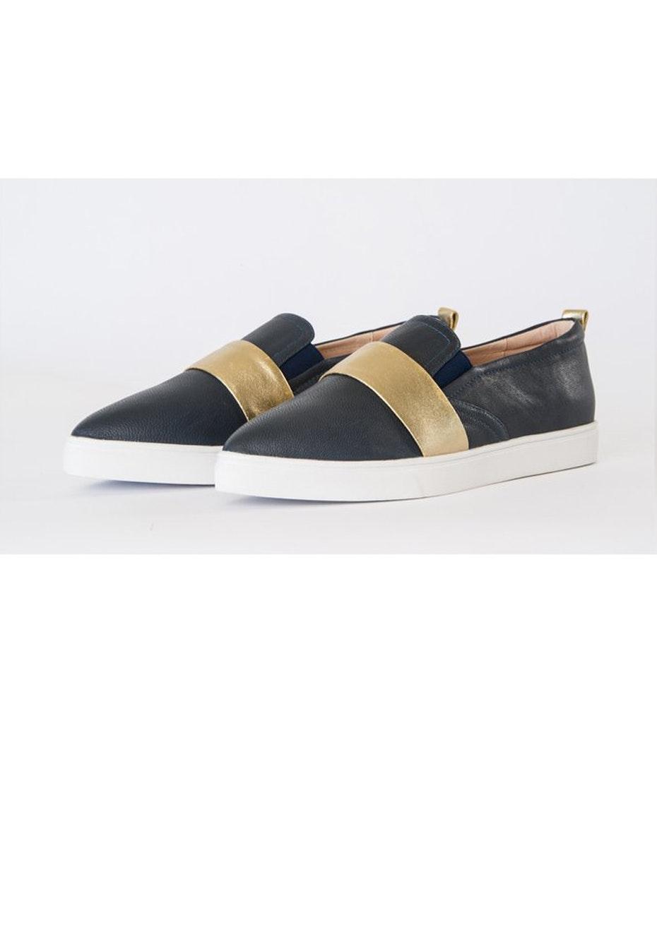 Julian Danger - Stella Sneaker - Navy & gold