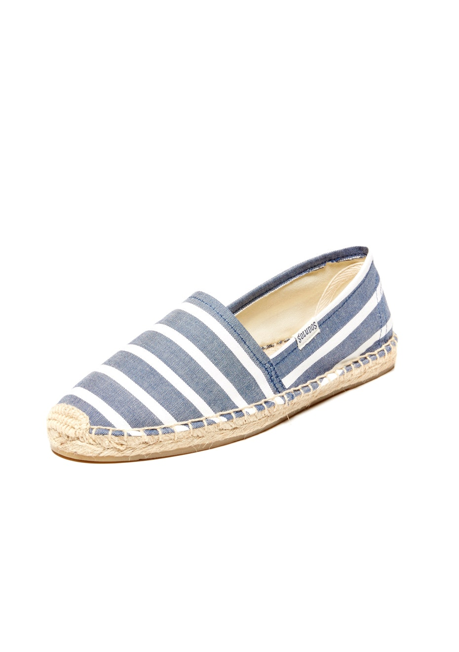 Soludos - Original Dali Stripe - Light Navy/White