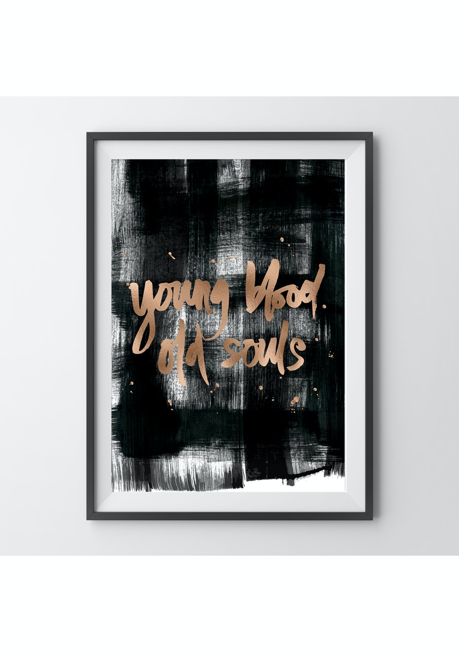 Simply Creative - Young Blood - A4 Copper Foil Print