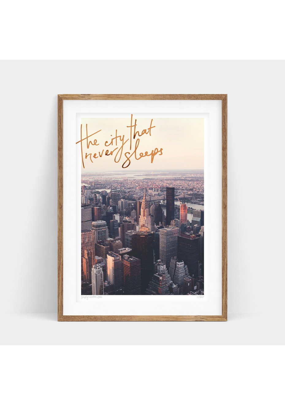Simply Creative - New York - A3 Copper Foil Limited Edition  Print