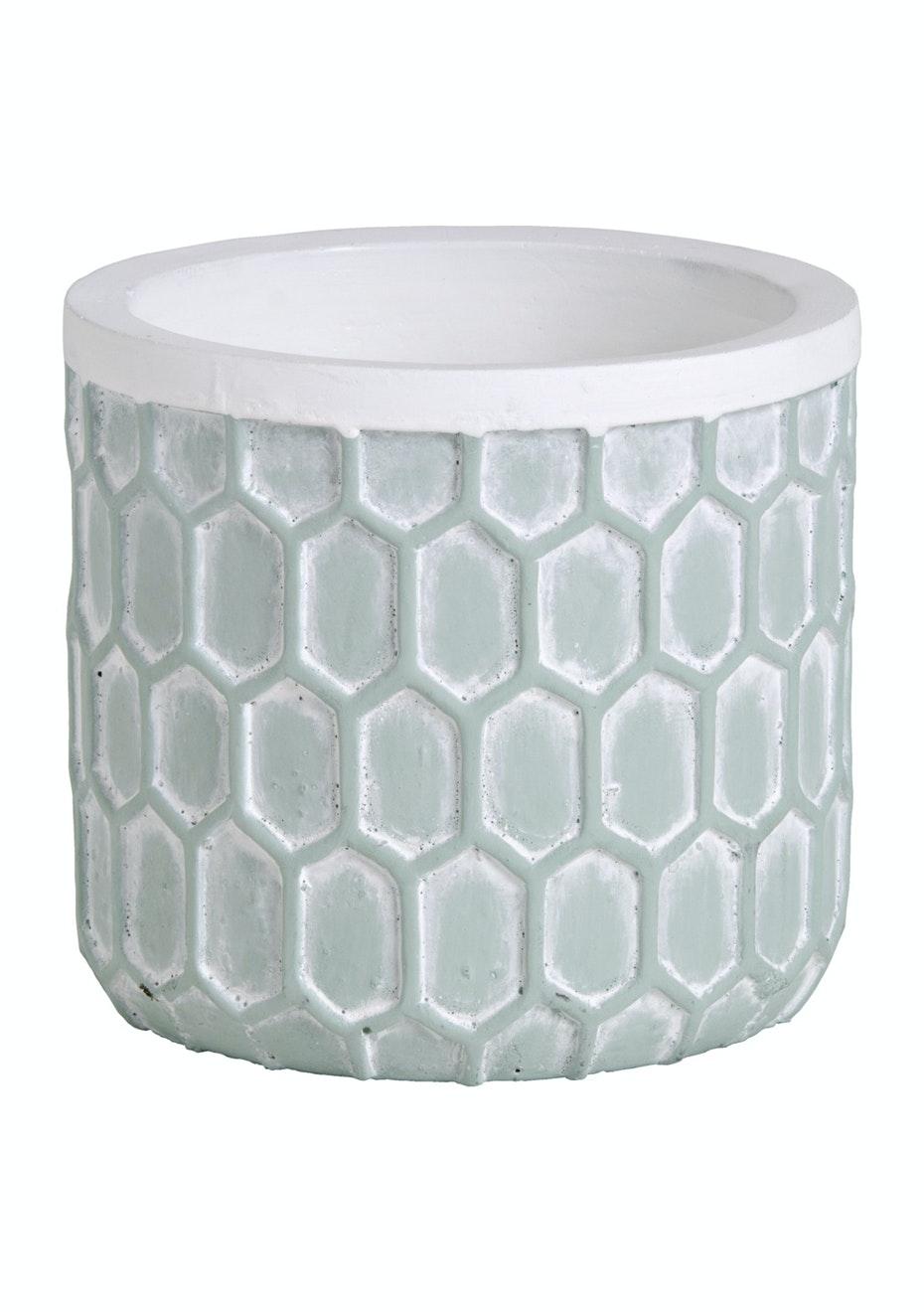 Jason - Concrete Hexagonal Planter - Mint