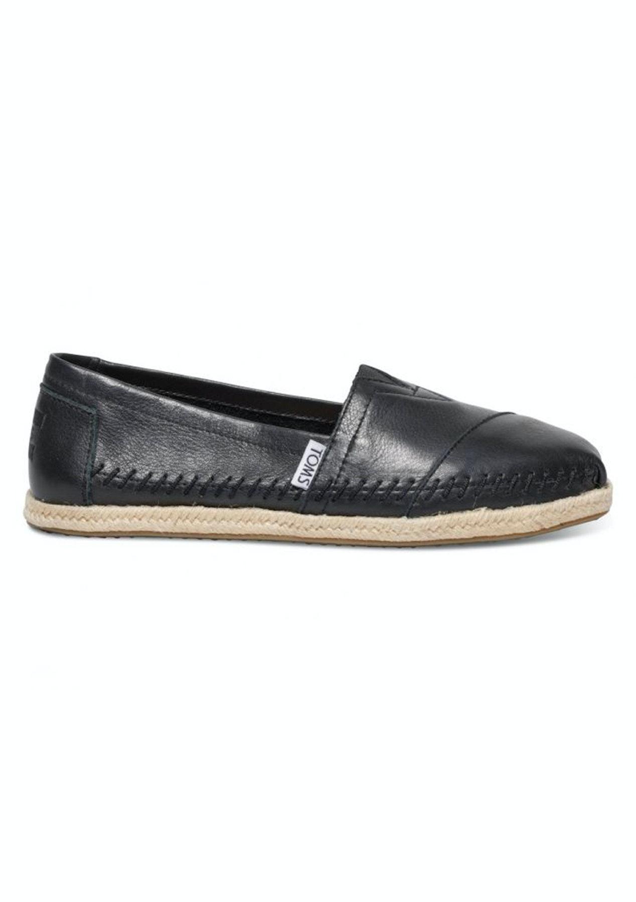 c7448fe1ed7 Toms - WomensLeather Aplpargata - Black - Shoes Garage Sale - Onceit