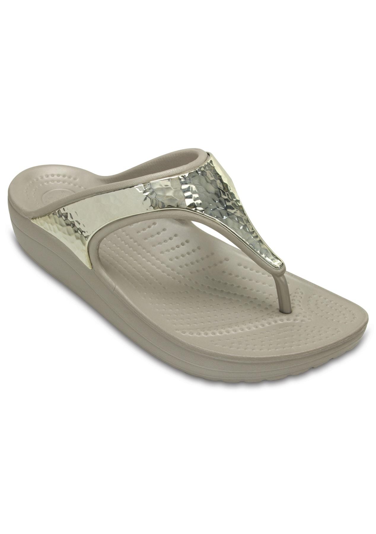 e19e01411c39 CROCS - Women s CROCS Sloane Embellished Flip - Platinum Platinum - CROCS  up to 50% Off - Onceit