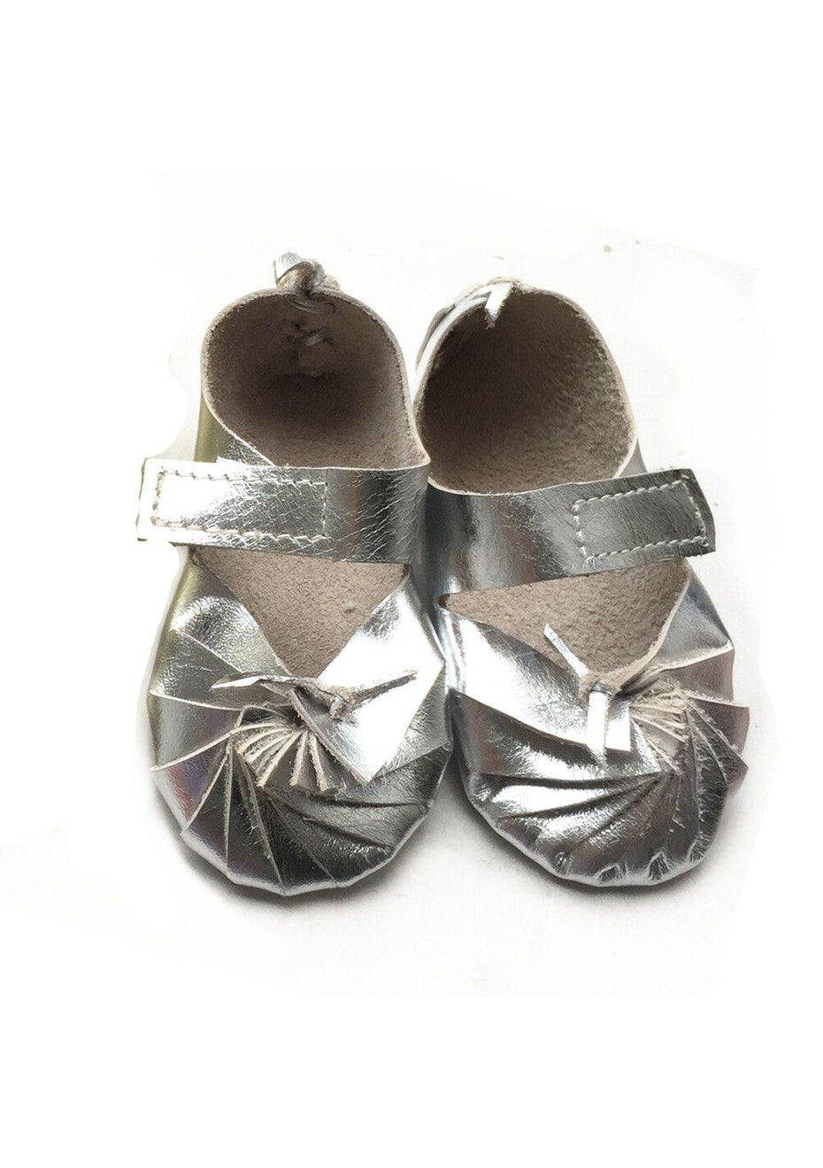 Baby  Leather Shoes - Silver