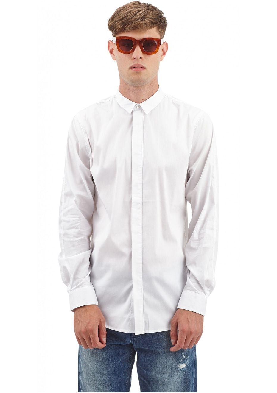 I Love Ugly - Cp Formal Shirt - White