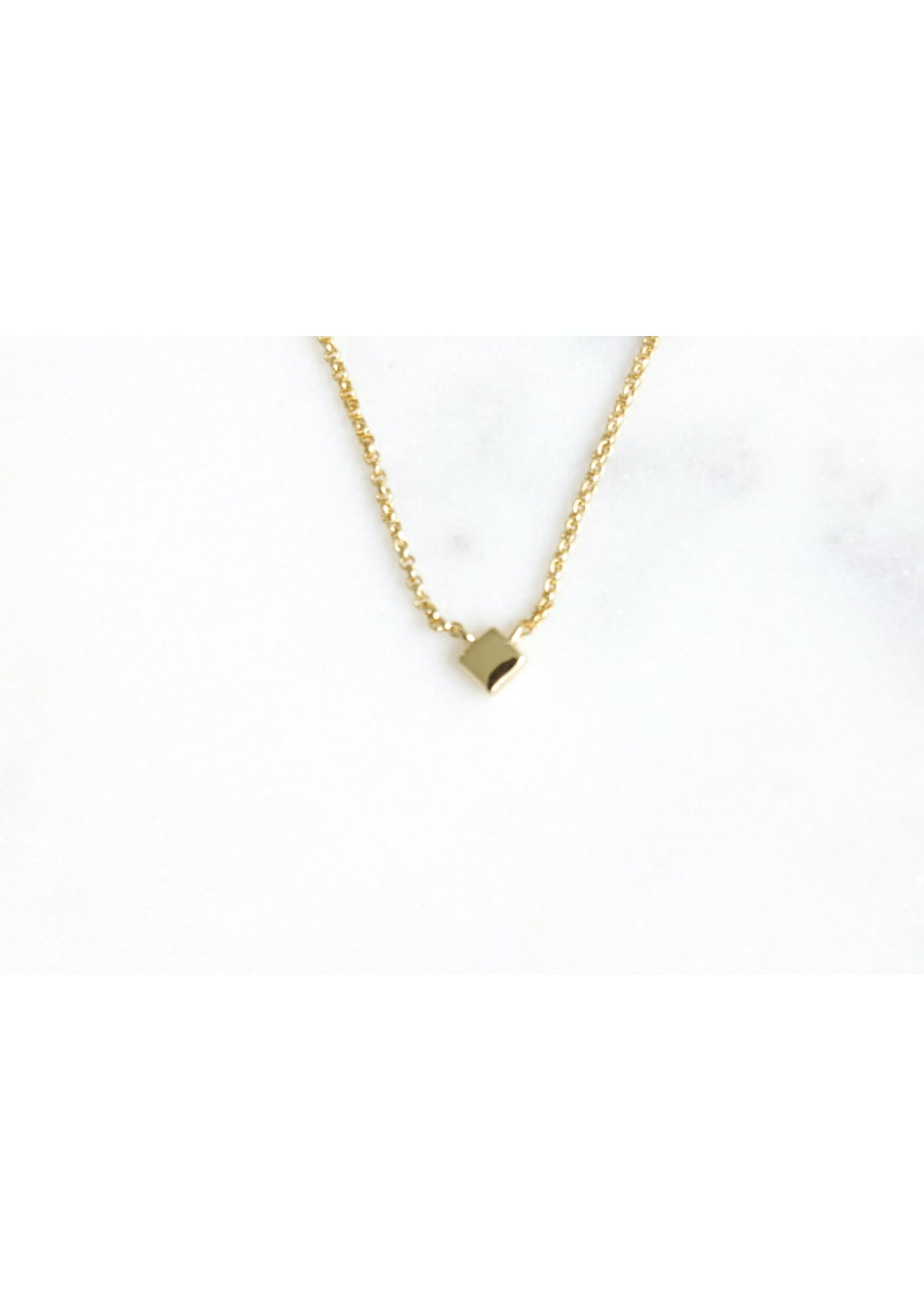 Sqaure Necklace - Gold Plated
