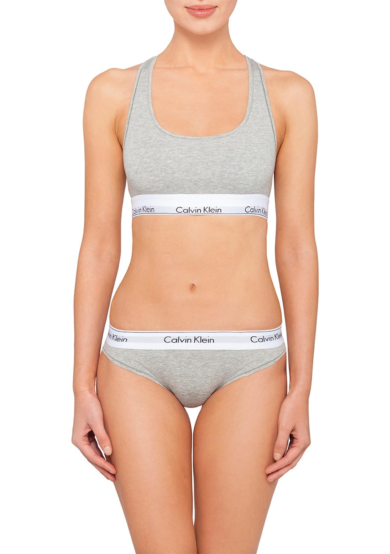154d2f52e2e Calvin Klein - Modern Cotton Bralette - Grey Heather - Underwear Garage  Sale - Onceit