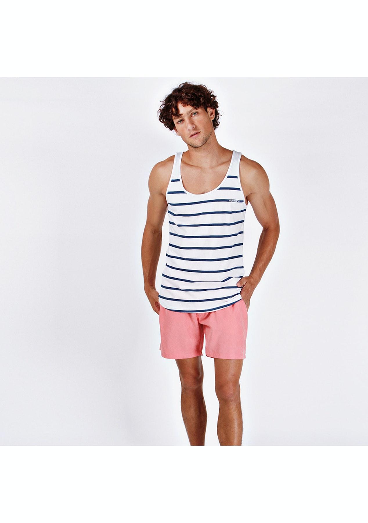 1ba4a97f28 Mosmann Australia - Resort Mid Swim Shorts - Pale Coral - Under $40 Mens  Swim Shorts - Onceit