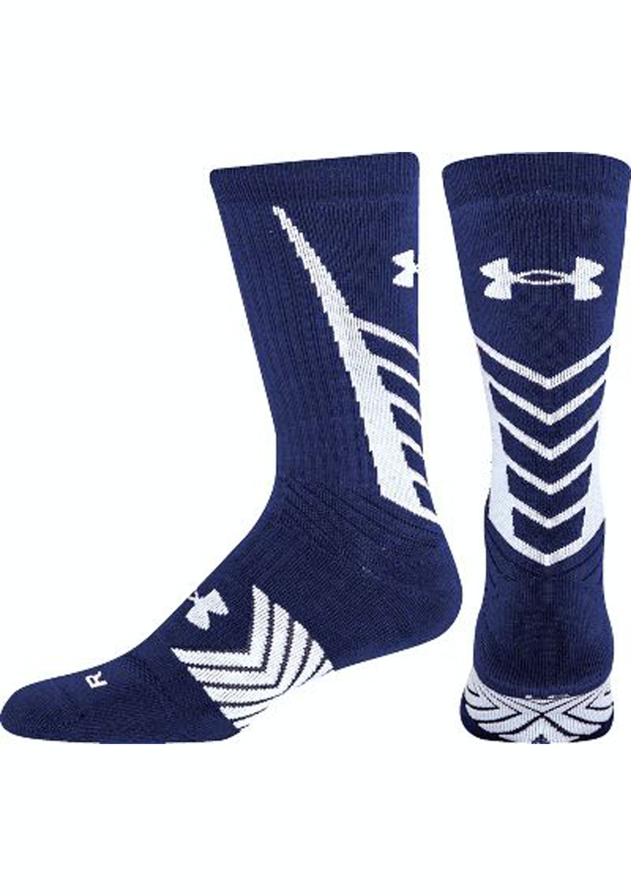 ce635639678a Under Armour Mens Undeniable Crew Socks - Navy/White - Boxing Day Under  Armour - Onceit