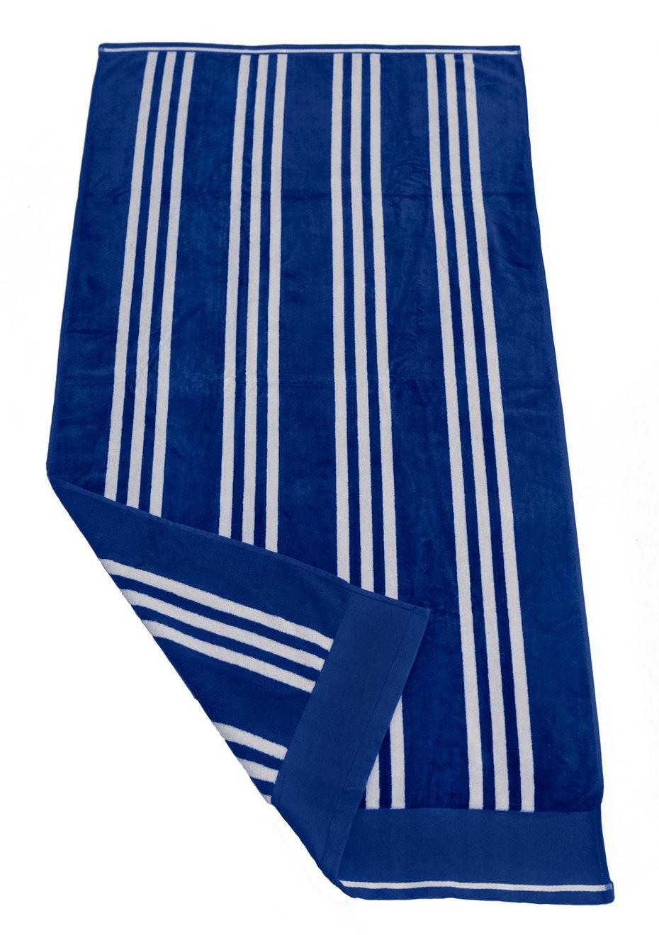 Coral Bay Velour Beach Towel Royal