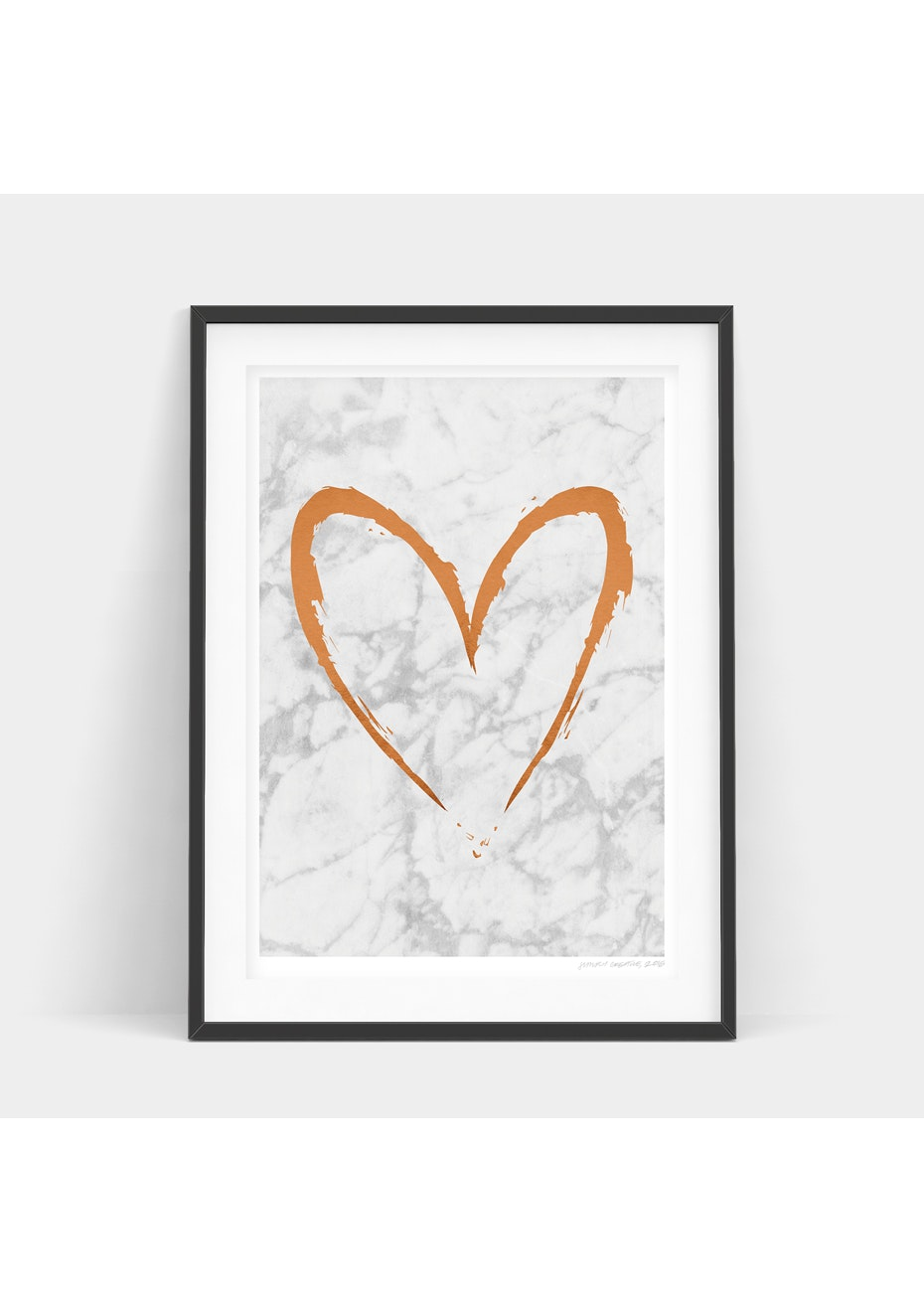 Simply Creative - Light Copper Heart - A4 Copper Foil Print