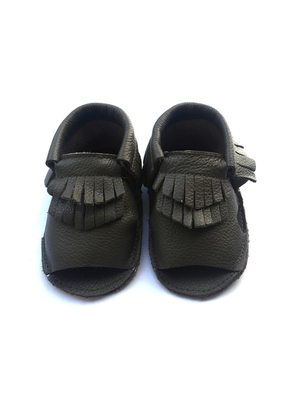 Baby  Leather Sandals - Black