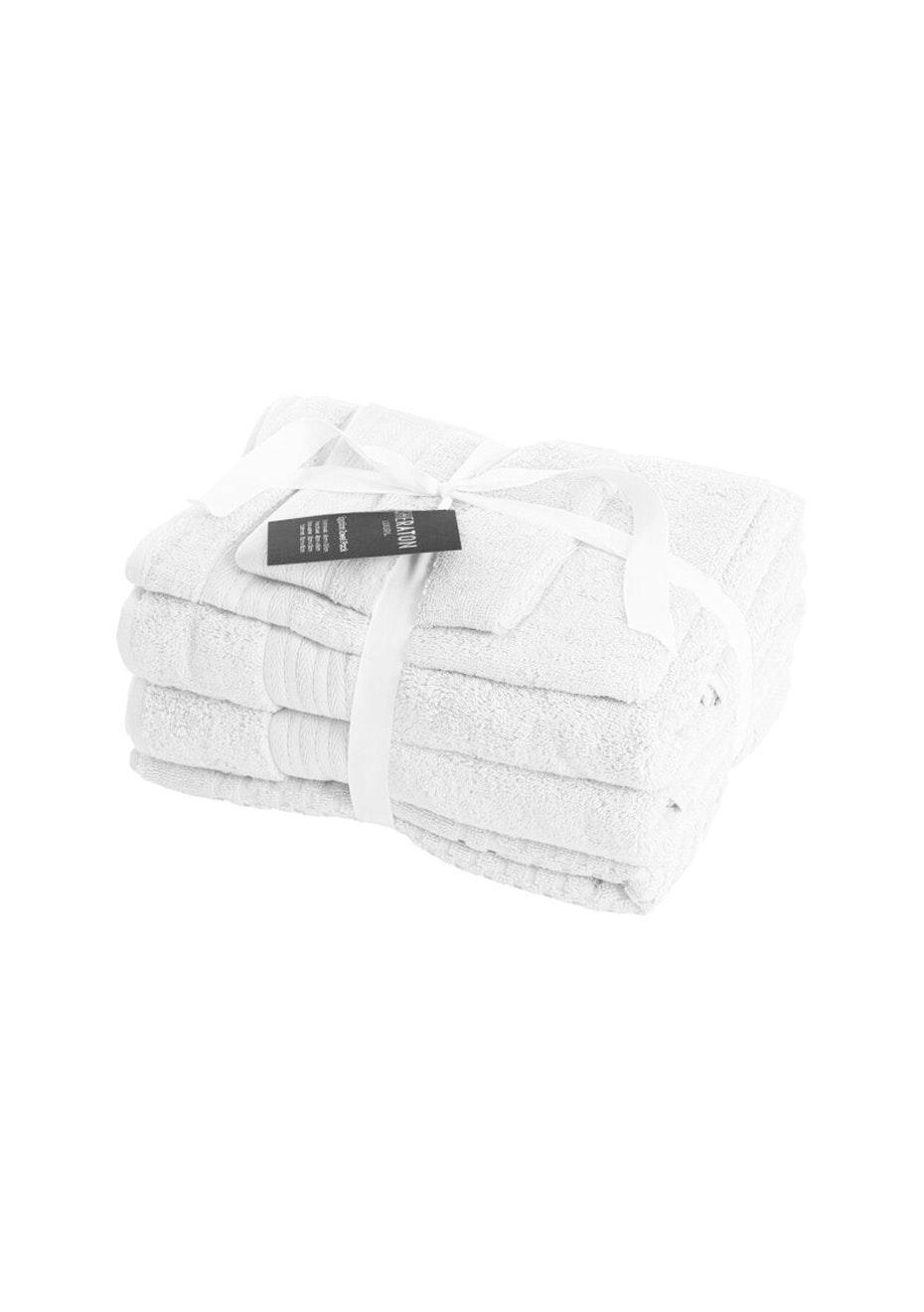 Sheraton Egptian 5 Piece Towel Pack - Colour White