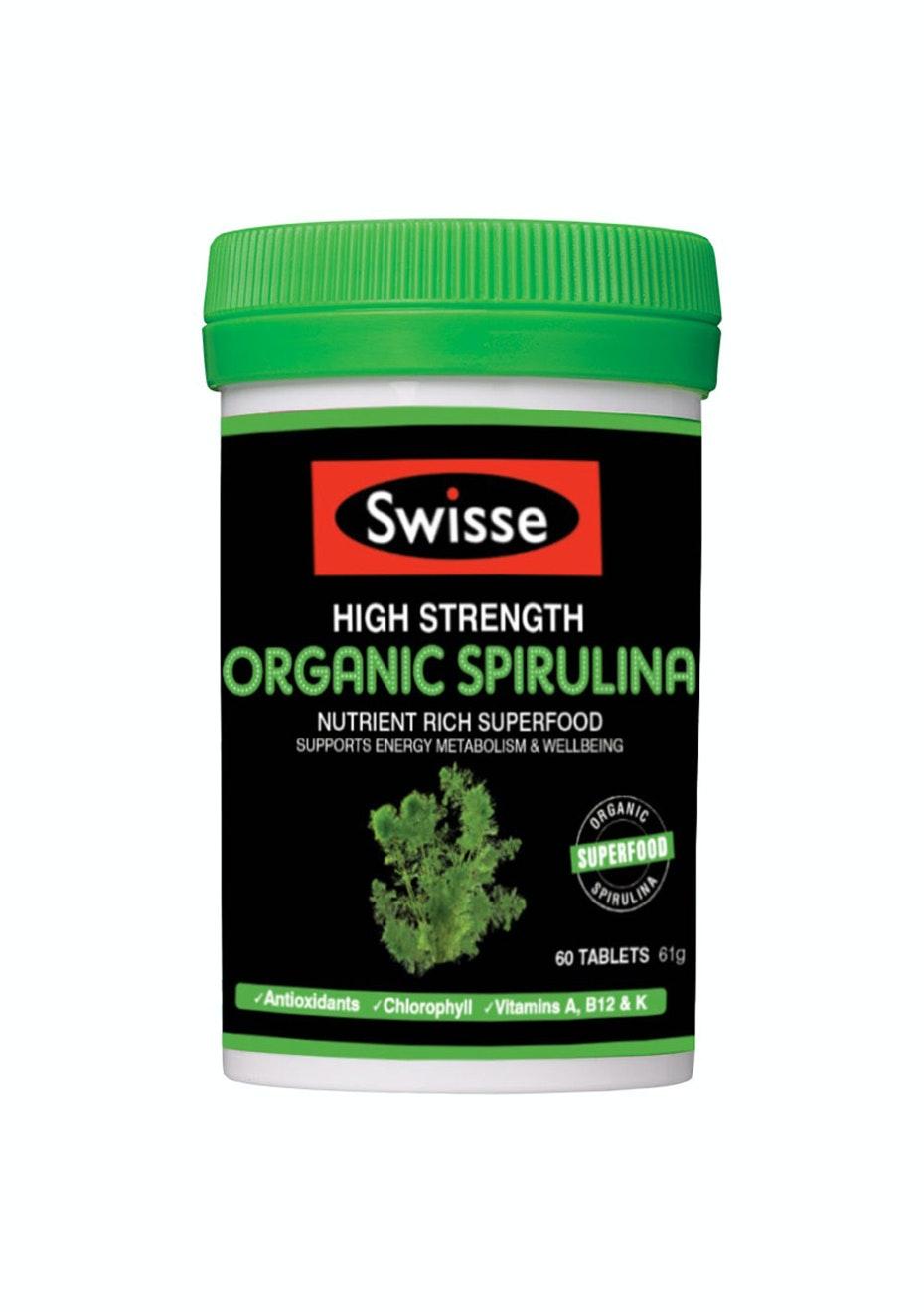 Swisse Ultiboost High Strength Spirulina Tablets 60 Tablets