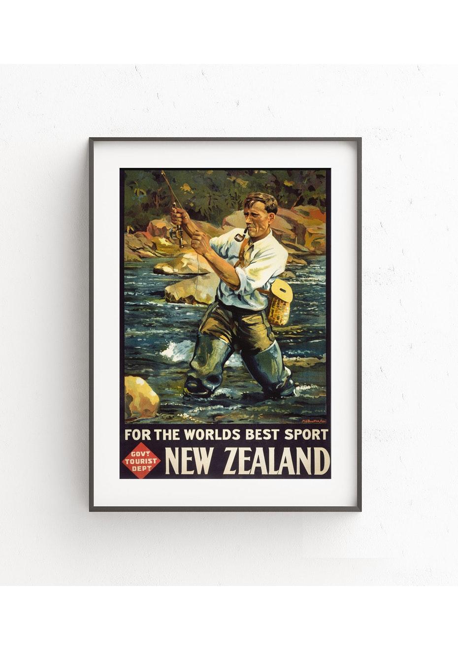 Worlds Best Sport Vintage Tourist Print - A2