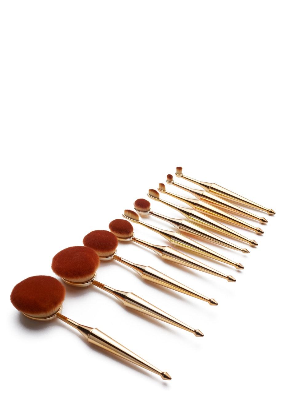 Terre Mere - Oval Brush Set - 10-pc Set