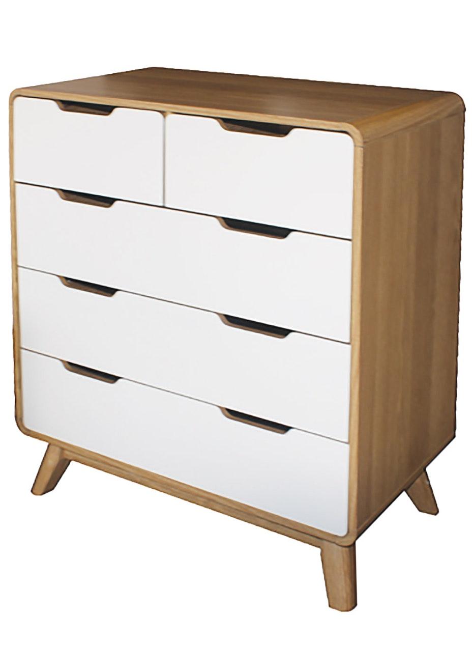 furniture save. Big Save Furniture - Retro Chest Oak/White Scandi Inspired Onceit