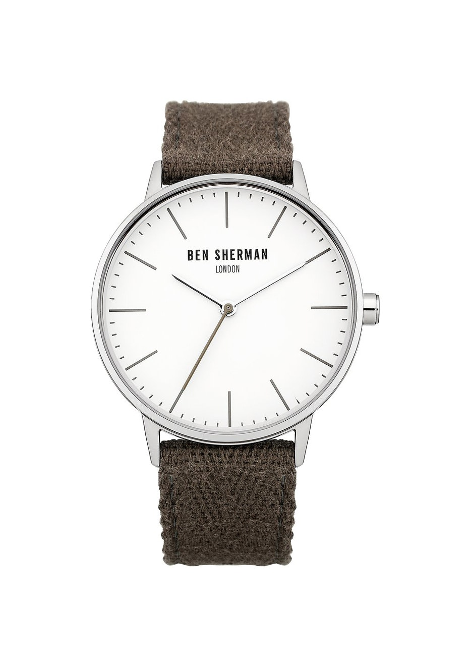 Ben Sherman - Khaki Watch With White Dial