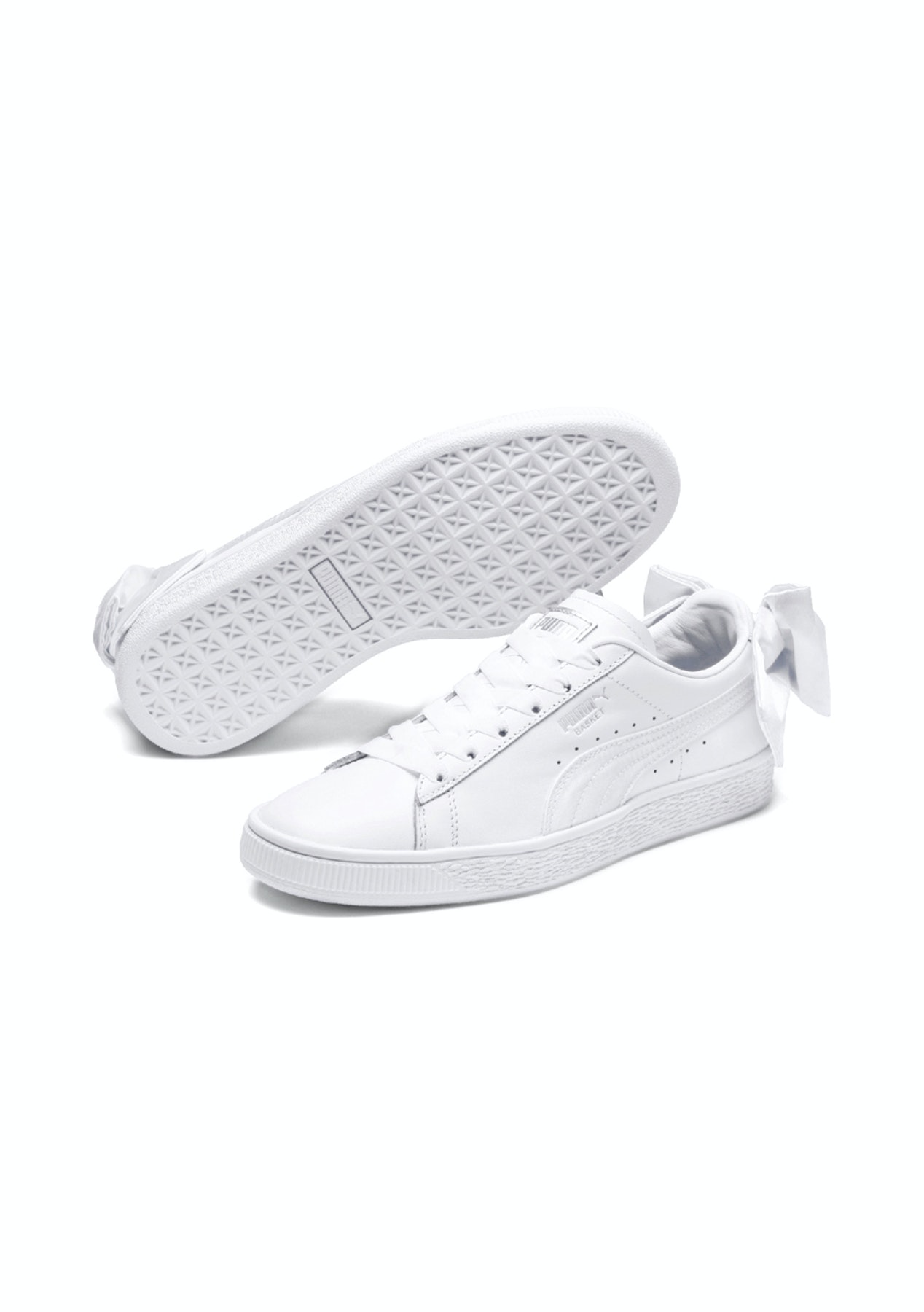 d3ee0fb09ab4 Puma Womens - Basket Bow - White - All Shoes  60 - Onceit