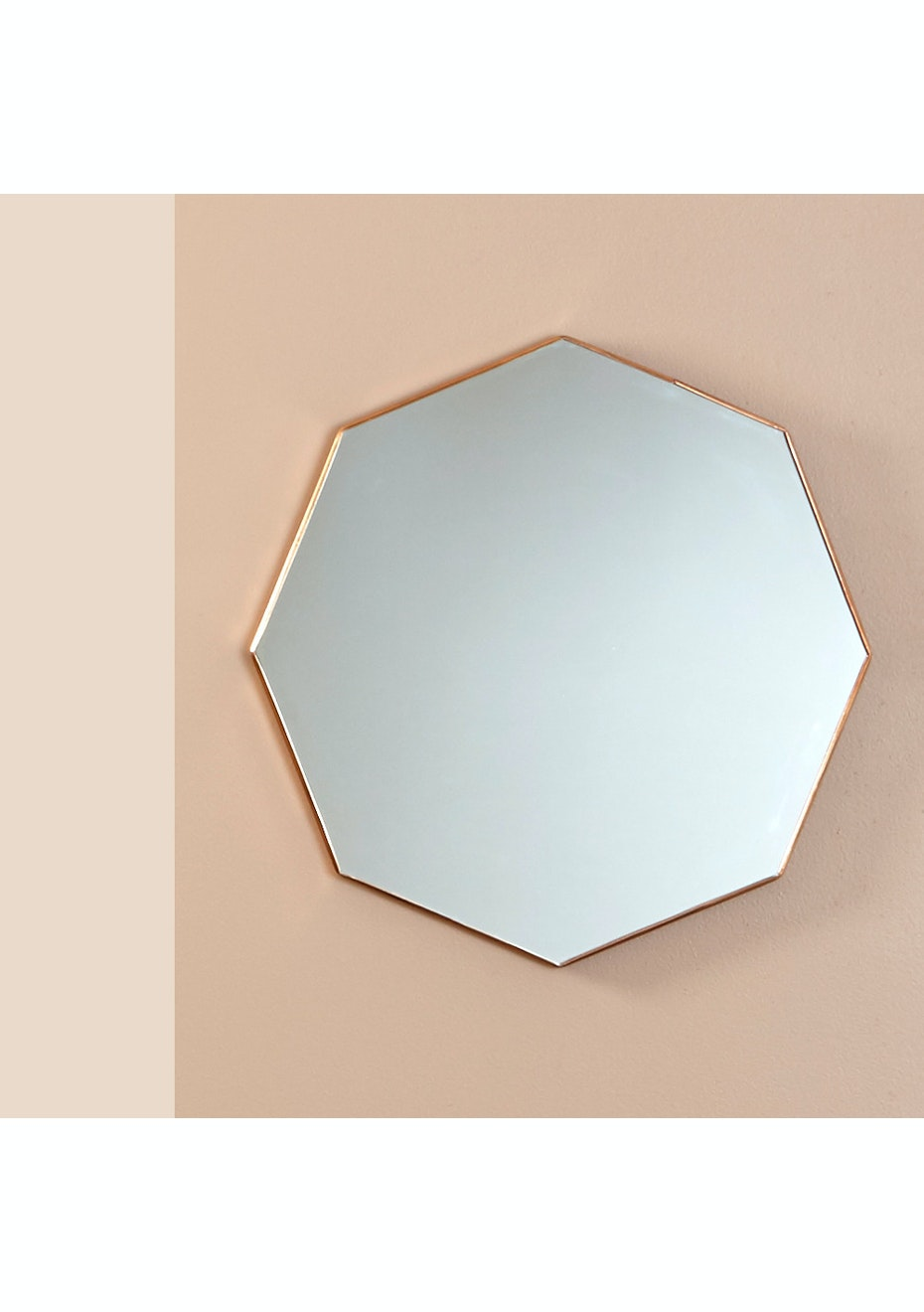 Me & My Trend - Brushed Brass Octagon Mirror