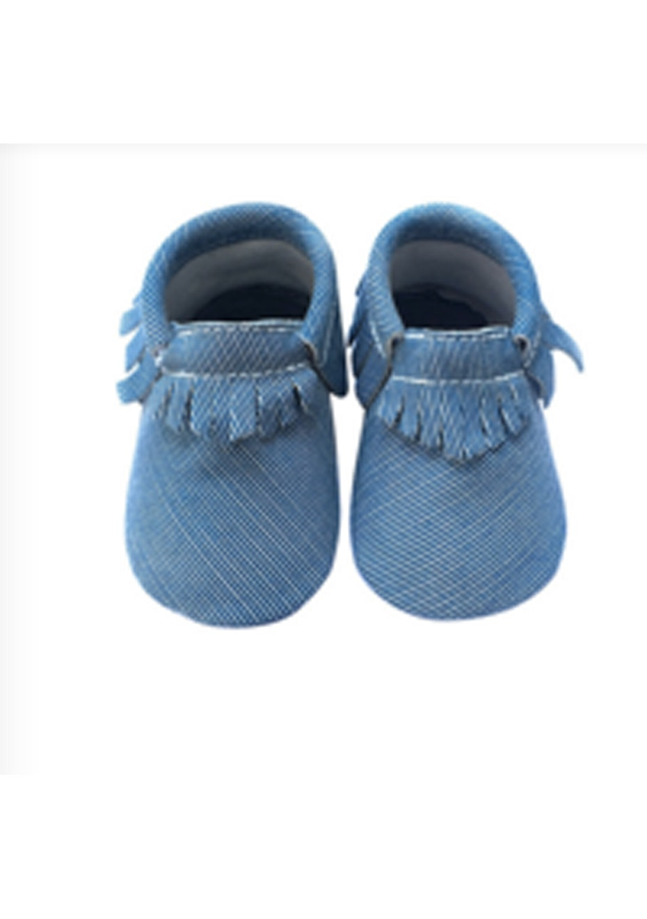 Baby  Leather Shoes - Denim Blue