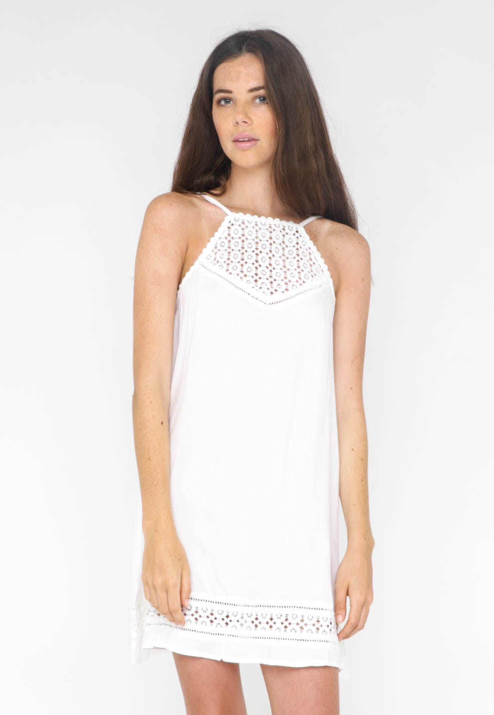 All About Eve  - Illusion Dress - Antique white