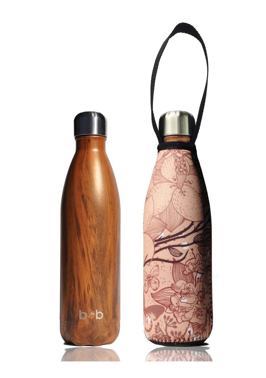 BBBYO - Future Bottle+ Carry Cover (Dragon Print) - 500 ml Woodgrain
