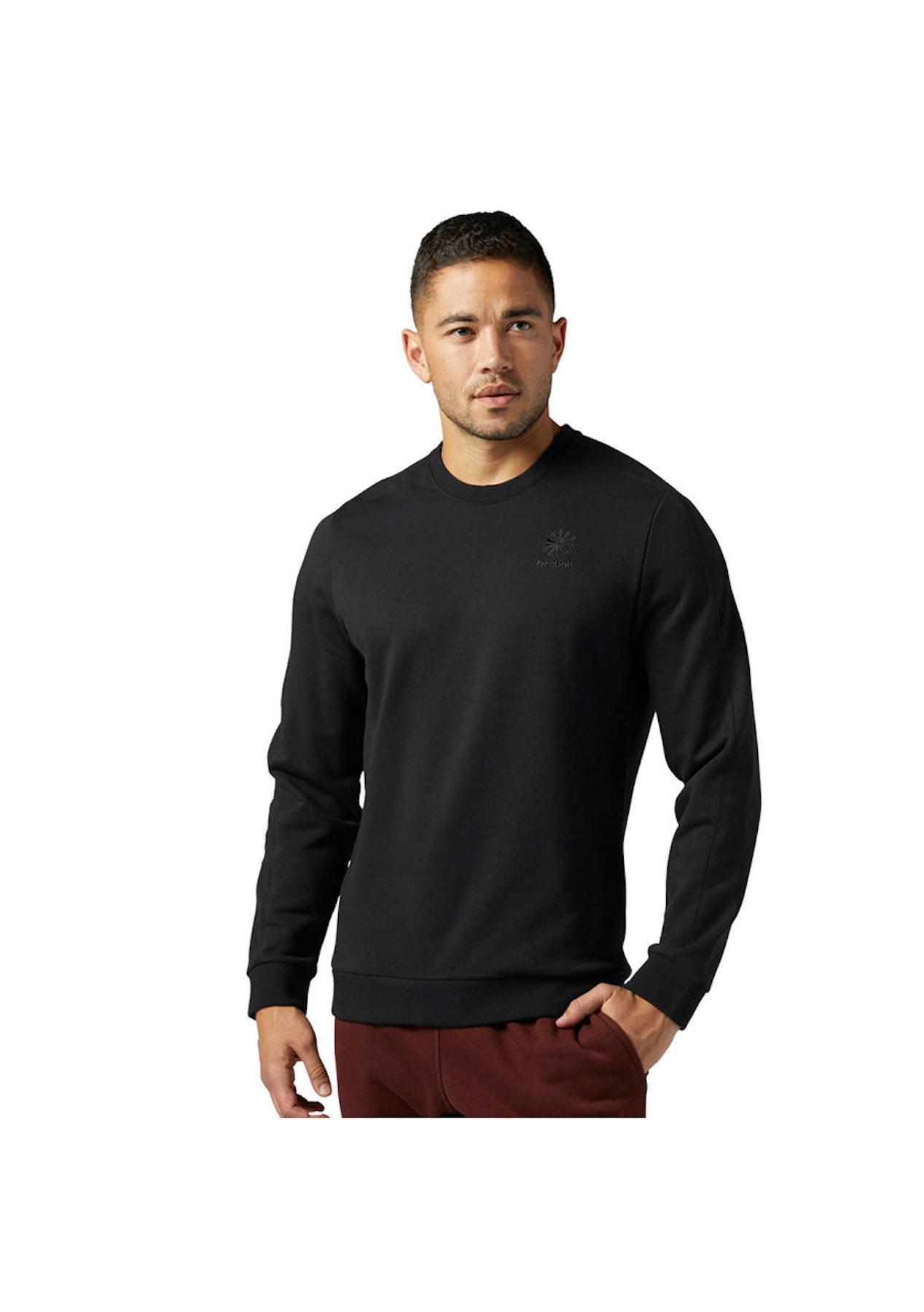 7e05e44175a Reebok Mens - Reebok Classics Franchise French Terry Crewneck Sweatshirt -  Black - Reebok Last Ones - Onceit