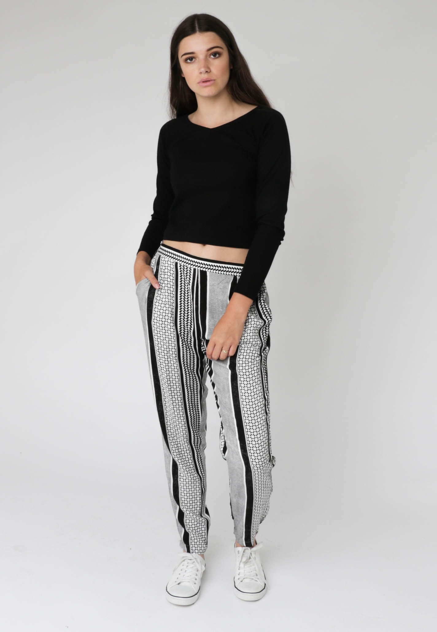 All About Eve - Marianne Pant - Vintage White/Black