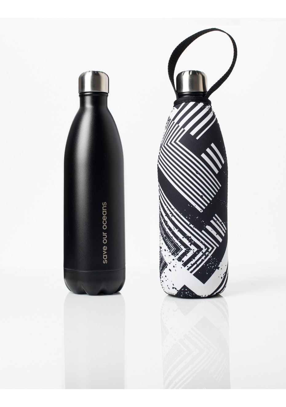 BBBYO - Future Bottle+ Carry Cover (Circuit Print)- 750 ml Matt Black
