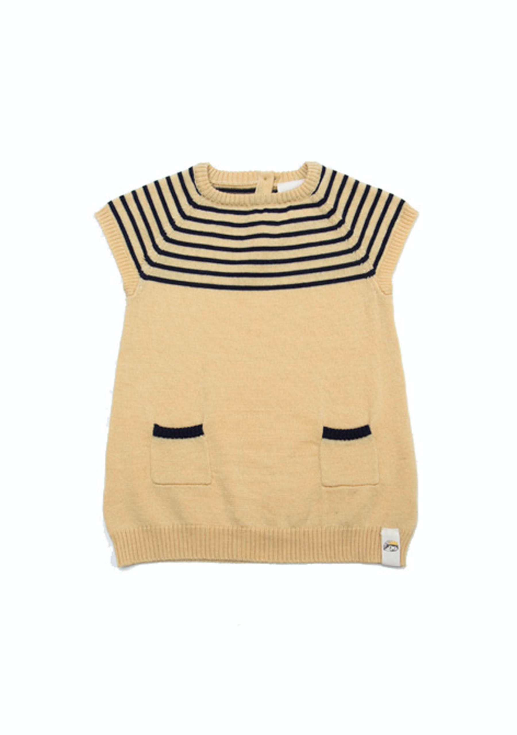 Mamoo & Lou Stripe Dress Yellow Baby Clothes & More ceit