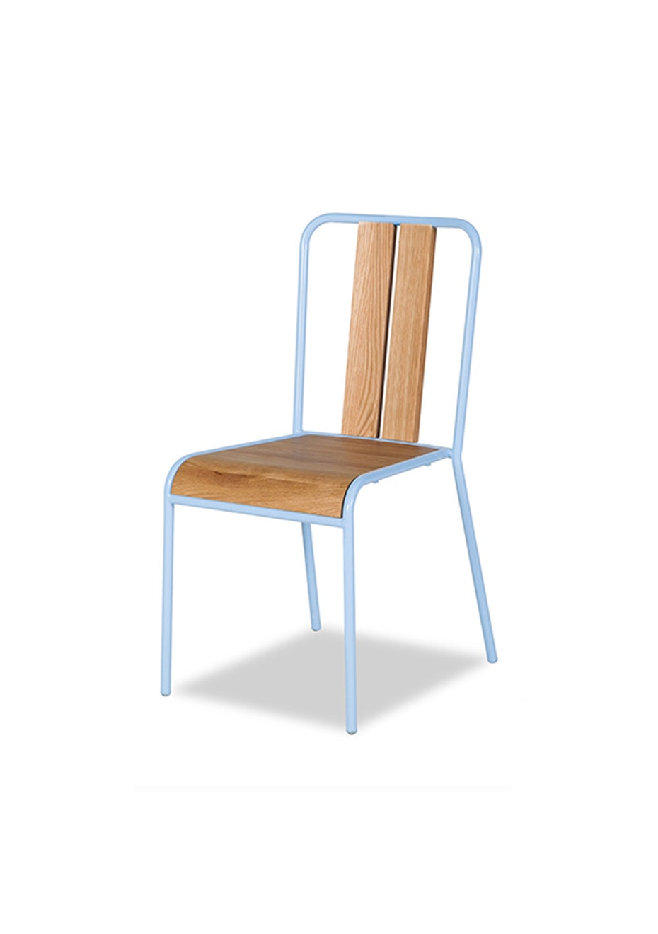 Furniture By Design - Manhattan Chair - Oak and Light Blue