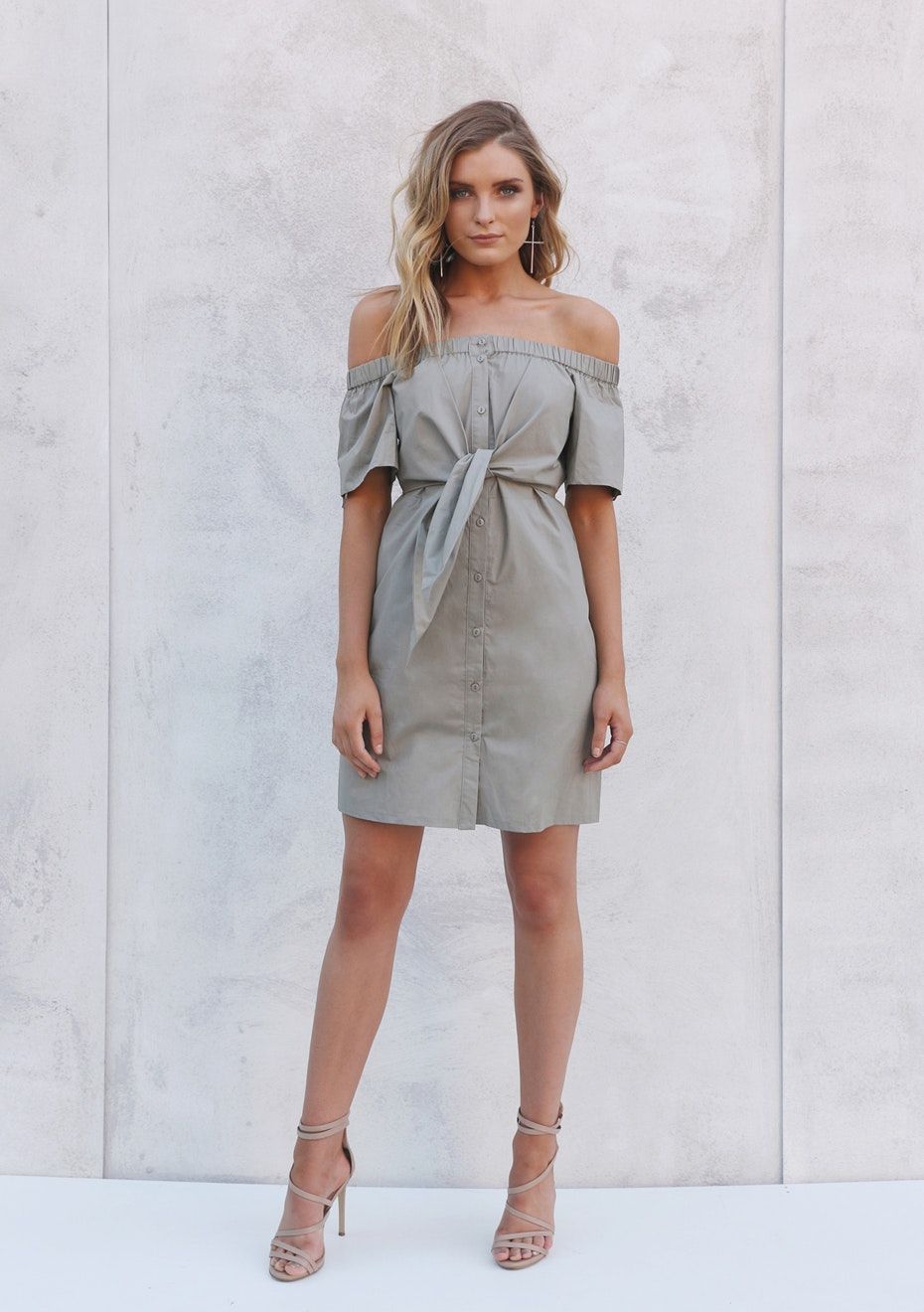 Madison - PIA SHIRT DRESS - KHAKI