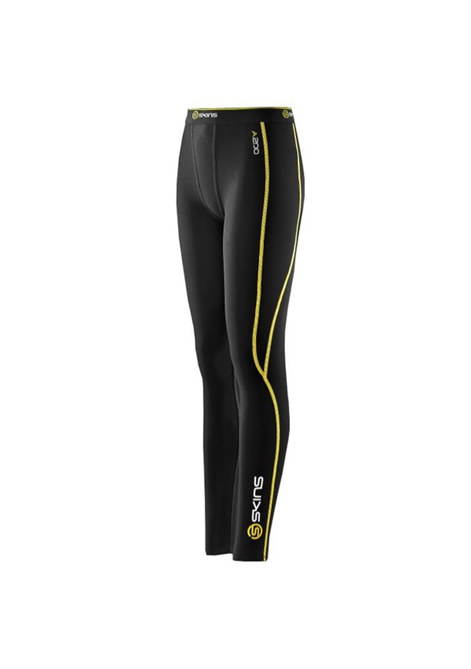 Skins - YOUTH A200 Black/Ye Long Tight