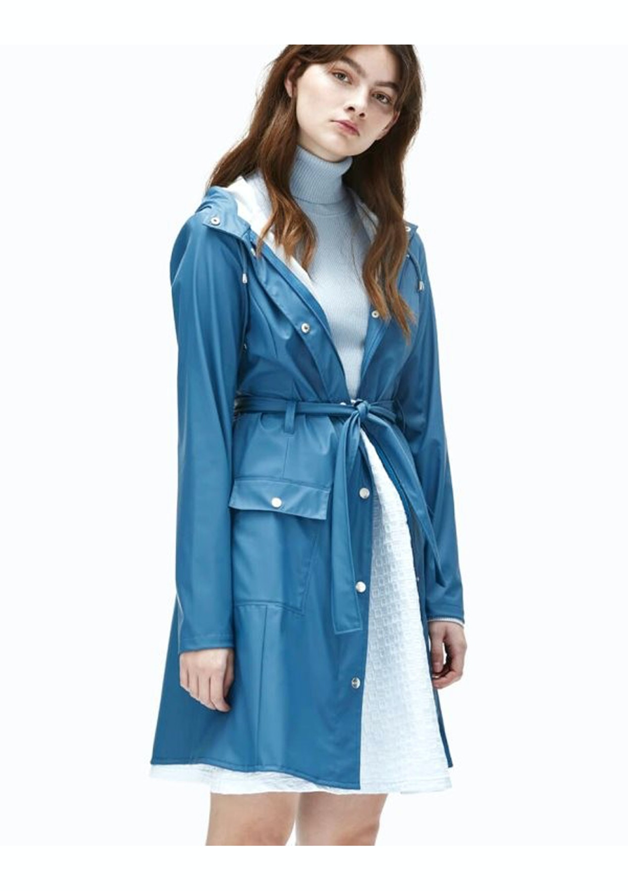 Rains - Womens Curve Jacket - Faded Blue - Rains 50% Off - Onceit 476df01bcd