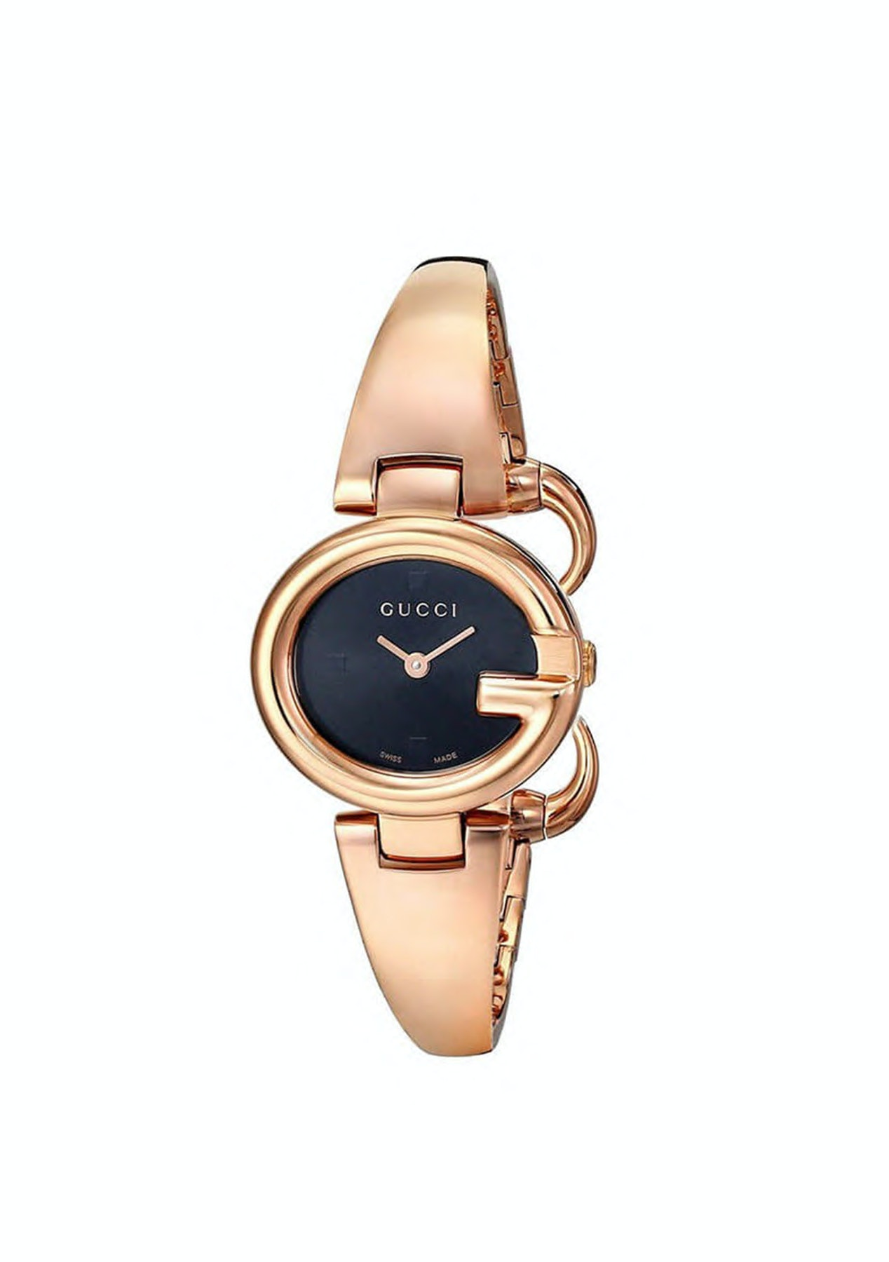 0789043ec2e Gucci - YA134509   Ssima Black Dial Rose Gold Tone Stainless Steel Quartz   Women  Watch - 48hour Gucci Watches - Onceit