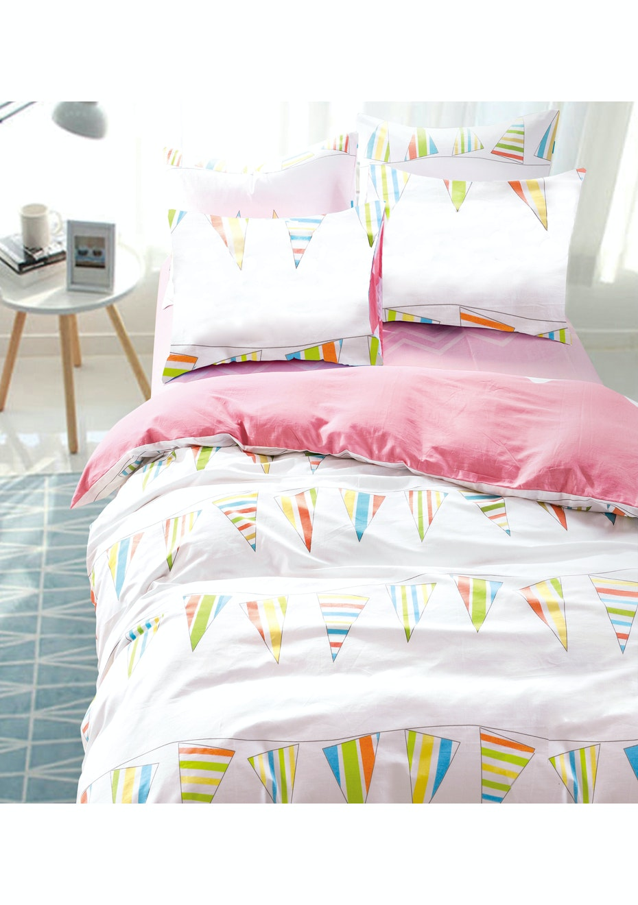 Carnival Quilt Cover Set - Reversible Design - 100% Cotton Double Bed
