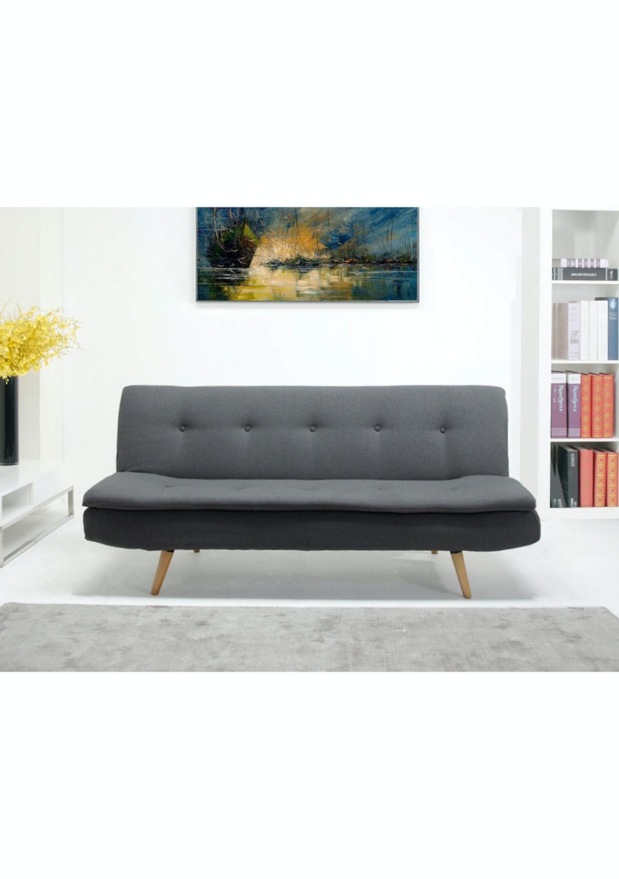 Awe Inspiring Lando 3 Seater Sofa Bed Profound Grey Home Interior And Landscaping Mentranervesignezvosmurscom